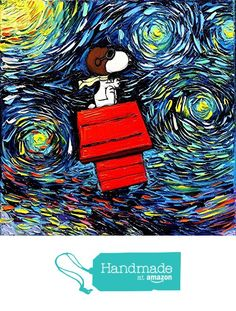 Snoopy Art - Peanuts Cartoon Starry Night print van Gogh Never Faced The Red Baron by Aja and inches choose Peanuts Cartoon, Peanuts Snoopy, Snoopy Love, Snoopy And Woodstock, Vincent Van Gogh, Canvas Art, Canvas Prints, Art Prints, Arte Van Gogh