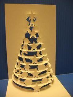 Christmas tree pop up card: