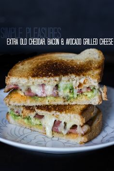 Bacon, Cheddar, Avocado Grilled Cheese
