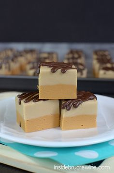 Layers of caramel fudge