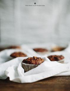 Buckwheat muffins with apple, banana and avocado