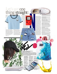 """Untitled #44"" by yundakenanga on Polyvore featuring Clinique, Paul & Joe Sister, Converse, JanSport, Urania Gazelli and Nintendo"