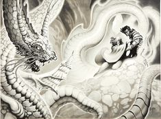 stephen fabian - the storm king, magazine illustration Storm King, Magazine Illustration, Science Fiction Art, Magazine Art, Fantasy, Abstract, Artwork, Summary, Work Of Art