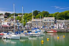 Print of Yachts at high tide in Padstow harbour, Padstow, North Cornwall, England North Cornwall, Cornwall England, High Tide, Great British, Poster Size Prints, About Uk, Britain, United Kingdom, National Parks