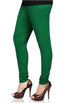 7b623cad2759b Navyata Green Cotton Lycra Stretch Churidar Legging for Women *** Check out  this great