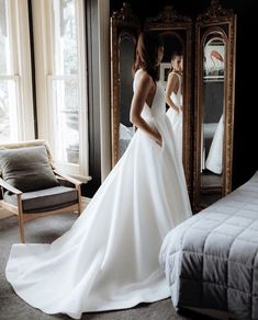 24 Satin Wedding Dresses For The Minimalist Bride - # Check more at hochzeitsk. - 24 Satin Wedding Dresses For The Minimalist Bride – # Check more at hochzeitsk.n… Source by - Wedding Dress Mermaid Lace, Long Gown For Wedding, Wedding Dress With Pockets, Top Wedding Dresses, Wedding Dress Trends, Princess Wedding Dresses, Wedding Bride, Bridal Dresses, Ivory Wedding