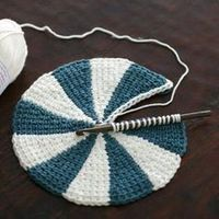 New free pattern and video tutorial next Wednesday Tunisian Crochet Shaker Dishcloths. by verypinkknits