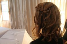 Wedding hair by Hollie Pate. Photo by Emma Jones.