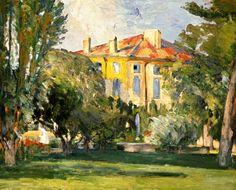 Bild:  Paul Cézanne - Das Haus in Jas de Bouffan