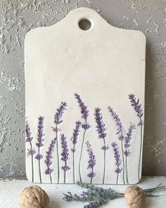 💜Elegant handmade cheese plate with lavender pattern for your next party or the hostest gift💜 . 💜Elegant handmade cheese plate with lavender pattern for your next party or the hostest gift💜 . Pottery, Creative, Ceramics, Clay, Pottery Classes