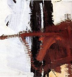 Franz Kline. (Beautiful Kline. I love it when the master of black and white uses color, any color :) M