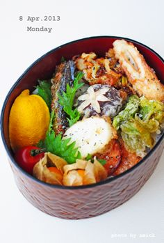 4月8日 月曜日 野菜の塩天丼 : おべんと綴り