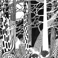 pattern landscapes - image: Veja cecilia - yr for jacob and my other tree fanatics! Elements And Principles, Elements Of Art, Zen Doodle, Doodle Art, Zentangle Patterns, Zentangles, Motif Art Deco, A Level Art, Middle School Art