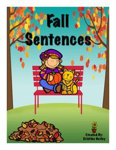 Fall Sentence Writing from The K-2 Guru on TeachersNotebook.com -  - Fall Writing Freebie!!