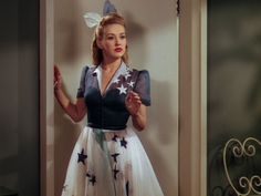 Betty Grable in Moon Over Miami. I love her dress #1940s #movies #betty grable