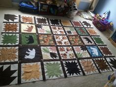 The BearPaw quilt top almost done