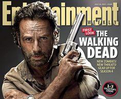 Collector : 3 couvertures de magazine pour The Walking Dead saison 4 (Daryl, Rick et Carl)