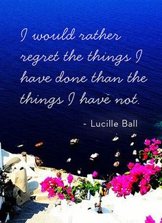 I'm not sure I agree - regrets can be very overwhelming, especially if one is depression-prone.