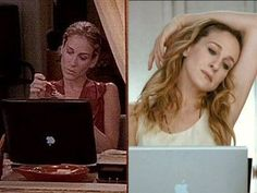 Image result for carrie bradshaw MacBook