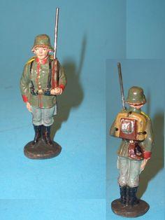 1958 - Elastolin Soldat stillgestanden 7cm Serie Guter Zustand | eBay