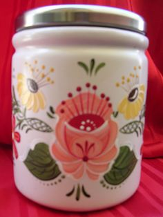 BAUERNMALEREI CERAMIC CANISTER | Flickr - Photo Sharing!