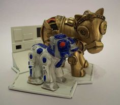 C-3PO and R2D2, by Pony Rehab.