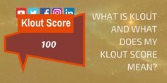 "Do you know what your Klout Score is? Are you wondering ""How can I increase my Klout Score?"" or maybe you're just wondering ""What is Klout?"""