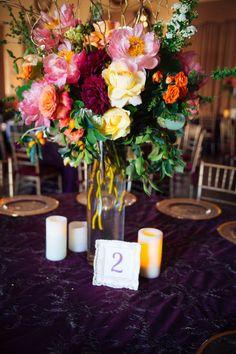 Mediterranean Inspired Wedding at The EbellofLA (via JunebugWeddings.com, images by Corey Nikols, flowers by HollyFlora) #venue #historic #losangeles