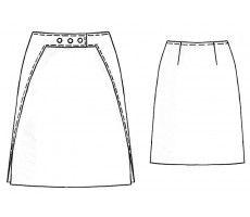 5181 Skirt with decorative belt