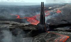 Darth Vader's Castle - Rogue One Concept Art