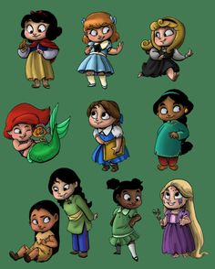 Disney Toddlers...love love that Mulan and Pocahontas are looking like friends. :)