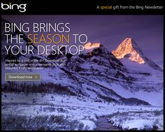 Microsoft offers the Bing winter wallpaper and screensaver pack for you to download