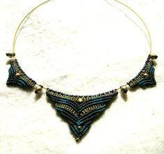 """Choker """"Queen of the Night's"""" Macrame Collar Collier Made to Order"""