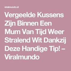 Vergeelde Kussens Zijn Binnen Een Mum Van Tijd Weer Stralend Wit Dankzij Deze Handige Tip! – Viralmundo