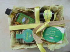 Greek All Natural & Organic Gift Set With Raw by MelirrousBees Natural Products, Pure Products, Greek Gifts, Olive Oil Soap, Vegan Soap, Gourmet Gifts, Raw Honey, Gift Sets, Special Gifts