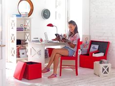 Escritorio blanco   #Mueble #Baúl #Dormitorio #Pieza