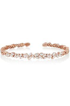 Suzanne Kalan | 18-karat rose gold diamond cuff | NET-A-PORTER.COM - http://www.net-a-porter.com/us/en/product/644082/suzanne_kalan/18-karat-rose-gold-diamond-cuff