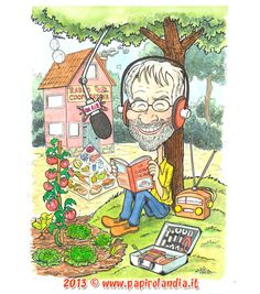 idee regalo per colleghi in pensione o trasferiti - illustrazione ad acquerello www. papirolandia.it