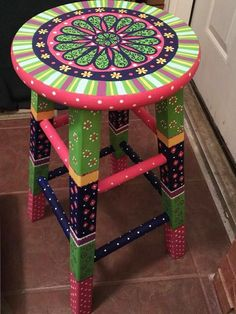 Add shelves for use as a colorful plant stand or shelves. #funkyfurniture