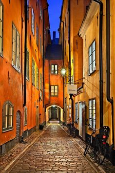 'Walking around Gamla Stan - Stockholm' by Hercules Milas Stockholm Old Town, Stockholm Sweden, Sweden Cities, Wonderful Places, Beautiful Places, Kingdom Of Sweden, Scandinavian Countries, Nightlife Travel, Places To Travel