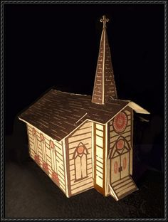 (Give Me That) Old-Time Religion Free Paper Model Download - http://www.papercraftsquare.com/give-me-that-old-time-religion-free-paper-model-download.html