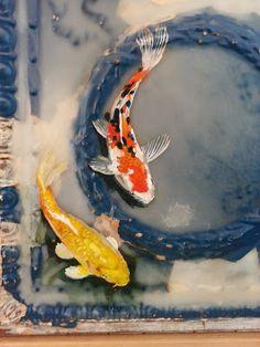 """Gold Floats"" Encaustic painting in progress by Erin Schechtman"