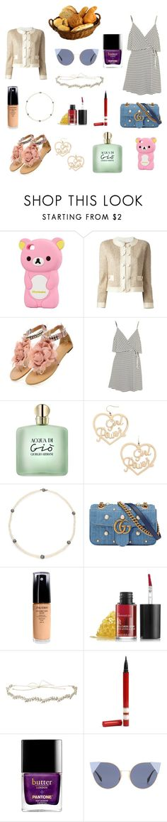 """""""Back to your roots"""" by perse-phone ❤ liked on Polyvore featuring Moschino, Topshop, Forever 21, Tara, Gucci, Shiseido, Jennifer Behr and Fendi"""