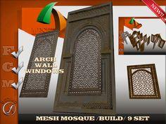 Mesh Arch Mosque Builld 9 set Full perm