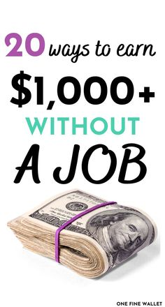Money Today, Earn Money From Home, Earn Money Online, Earn Free Money, Ways To Save Money, How To Make Money, Need Money Now, Make Money From Pinterest, Money Jars