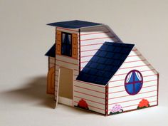 Digitprop-White cottage paper craft