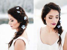 Stunning Winter Weddings something blue wedding hair flowers utah calie rose
