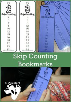 I love the idea of these FREE skip counting bookmarks! What a great way to remember to practice skip counting. Keep these in your math book and use them daily to learn and reinforce skip counting. Math Resources, Math Activities, Skip Counting Activities, Mental Math Strategies, Math Worksheets, Math Intervention, Second Grade Math, Grade 2, Math Books