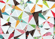From a quilting book I have already. Wow! Love it with modern fabric.