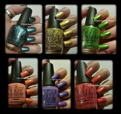 Hawaii Collection by OPI ... OooooLaLa! They are gorgeous, all of them!!!! GREAT polishes. All were real good formulas, with easy application. I loved wearing each of them!! #OPI #notd #prettynails #hawaii2015